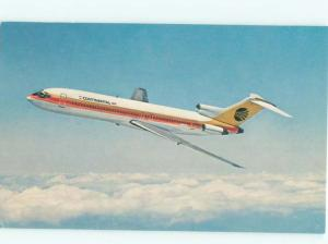 Pre-1980 Postcard Ad CONTINENTAL AIRLINES BOEING 727 TRIJET AIRPLANE AC6316