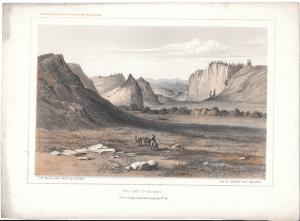 Coo Che To Pa Pass Sahwatch Creek USPRR Survey 38-39th Parallel 1855 Lithograph