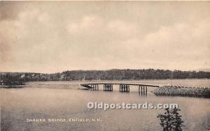 Old Vintage Shaker Post Card Bridge Enfield, New Hampshire, NH, USA 1950