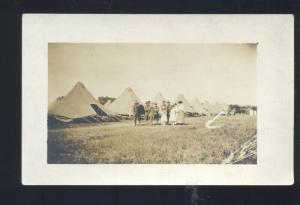RPPC CAMP DODGE IOWA DES MOINES IA. MILITARY CAMP WWI REAL PHOTO POSTCARD