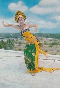 An Oleg (Flirtation), Dancer In Action, Bali Island, Indonesia, 1950-1970s