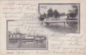 Garfield Park and Riverside Park, Indianapolis, Indiana, PU- 1905