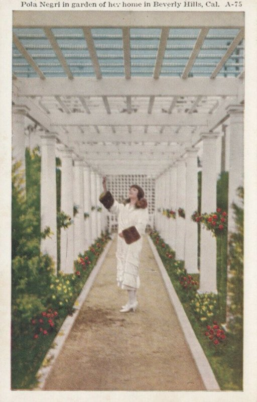 Pola Negri In Her Garden, BEVERLY HILLS, California, 1910-20s # 2