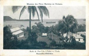 Port-Vila New Hebrides church & school