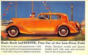 Nash Built LaFayette Fine Car Low Price Field Postcard