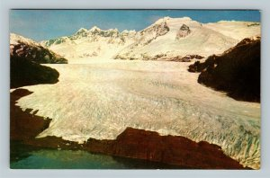 Juneau AK, Aerial View Of Mendenhall Glacier, Chrome Alaska Postcard