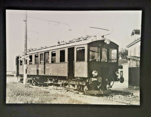 Mint Germany Train Tram At Chavornay Station Real Picture Postcard