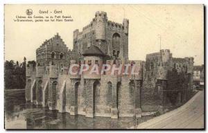 Old Postcard Gent Chateau Des Comtes Vu Du Petit Gewad