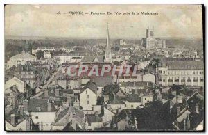 Postcard Old Troyes Panorama East View from Madeleine