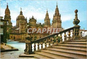 Modern Postcard Santiago de Compostela Cathedral Facade of Azabachería