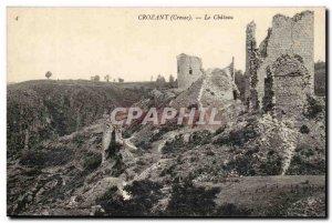 Creuse Crozant Old Postcard The castle