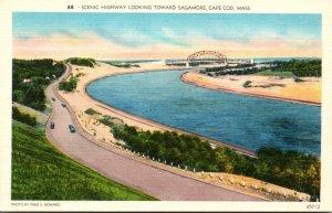 Massachusetts Cape Cod Scenic Highway Looking Toward Sagamore