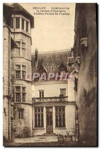 Old Postcard Belley Interior Caisse d & # 39Epargne Old Courthouse