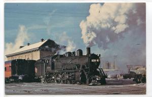 Milwaukee Road Railroad Train 1038 Sheds Madison Wisconsin postcard