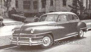 1948 Chrysler Windsor 4 Door Sedan Automotive, Autos, Cards Old Vintage Antiq...