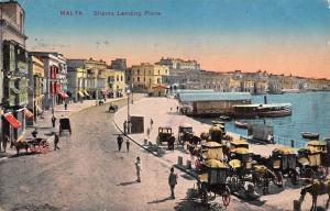 Malta Sliema Landing Place 1916 PPC