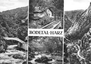 Bodetal Harz Jungfernbruecke HOG Hirschgrund Bodepartie Bodetor Bridge