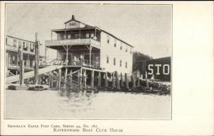 Brooklyn Eagle Postcard Series Ravenswood Boat Club House c1905 Postcard
