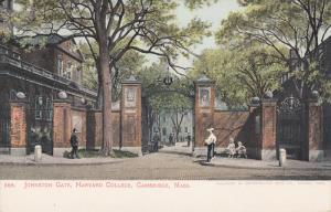 Johnston Gate, Harvard College, CAMBRIDGE, Massachusetts, 1900-1910s