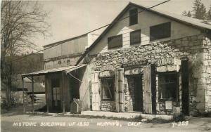 1940s Calaveras County Historic Building 1860 Murphy's California RPPC 6370