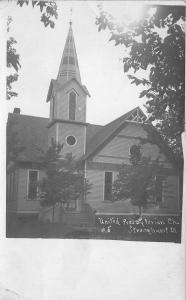 Stronghurst Illinois~United Presbyterian Church~1908 Real Photo Postcard~RPPC