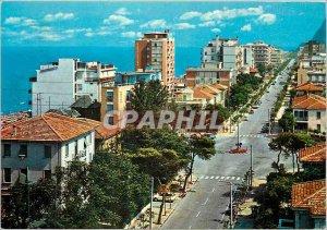Postcard Modern Pesaro Allee Trieste