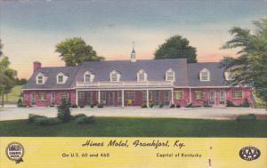 Kentucky Frankfort Hines Motel 1953