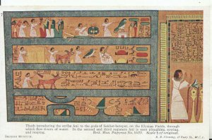 Egyptian History Postcard - British Museum Papyrus - Ref 16795A