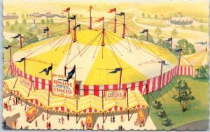 1964-65 New York World's Fair Postcard CONTINENTAL CIRCUS Artist's View Unused