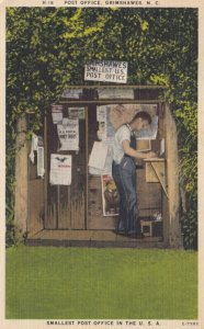 GRIMSHAWES, North Carolina, 1930-40s; Smallest Post Office in the U.S.A.