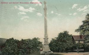 SHAMOKIN , Pennsylvania, PU-1909; Soldiers' and Sailors' Monument