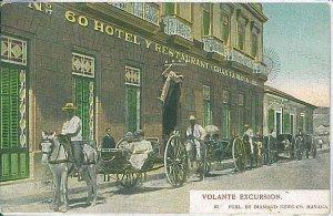 25397A - VINTAGE POSTCARD - CARIBBEAN  - VOLANTE EXCURSION Hotel