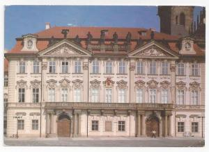 Czech Republic Praha Prague Kinsky Palace 1993 Postcard 4X6