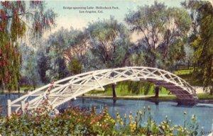 HOLLENBECK PARK LAKE BRIDGE LOS ANGELES, CA 1917