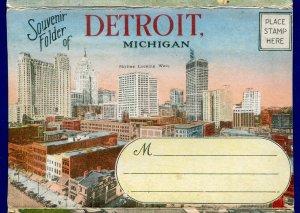 Detroit Michigan mi Fort Motor Co White Star Docks Steamers postcard folder