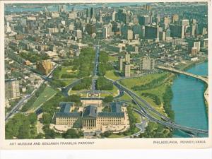 Pennsylvania Philadelphia Aerial View Art Museum & Benjamin Franklin Parkway