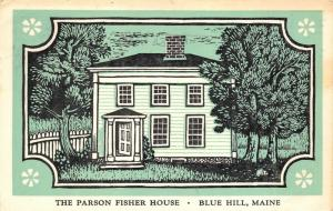 Blue Hill Maine 1960 Postcard The Parson Fisher House