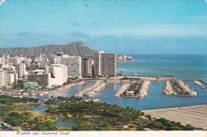 Hawaii Waikiki and Diamond Head Panoramic View 1984