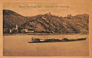 GERMANY~KLOSTER BORNHOFEN-RUINE LIEBENSTEIN und STERNBERG-SEPIA PHOTO POSTCARD