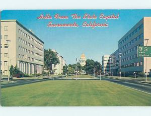 Unused Pre-1980 PANORAMIC VIEW Sacramento California CA H9964