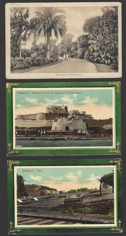 India Pehawar vintage postcards c.1910s-20s x 13