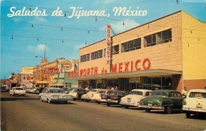 Tijuana Mexico~Main Street~Woolworth's~Nacho's~Beer~Hotel~NICE 1950s Cars
