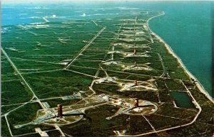 CAPE CANAVERAL, FL~ MISSILE ROW at  J F KENNEDY SPACE CENTER c1960s  Postcard