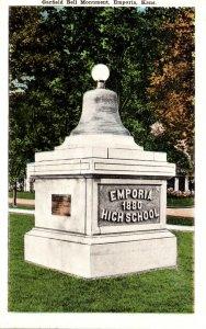 Kansas Emporia Garfield Bell Monument 1945