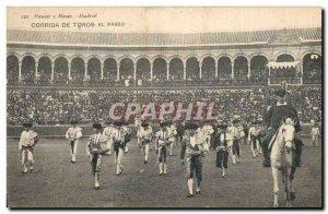 Old Postcard Bullfight Bullfight El paseo
