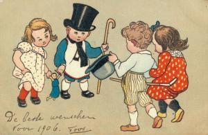 Happy New Year vintage postcard 02.52