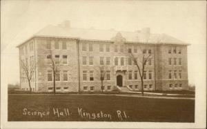 Kingston RI Science Hall c1910 Real Photo Postcard