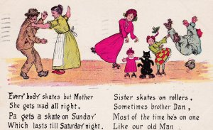 SKATING , 1907 ; Everybody Skates but Mother