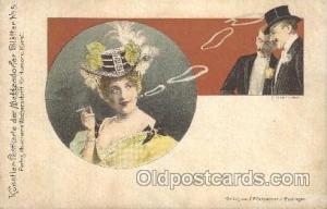 J.F.Schreiber People / Children Smoking Postcard Postcards  J.F.Schreiber