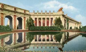 CA - San Francisco. Pan-Pacific International Exposition, 1915.  Lagoon, Cour...
